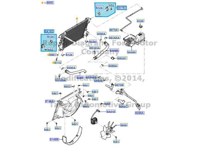 oem rh side radiator support ford f250 f350 f450 f550 #bc3z-8a193-a