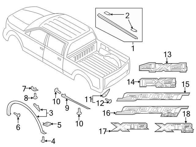 ford oem exterior decal  fl3z9925622aa