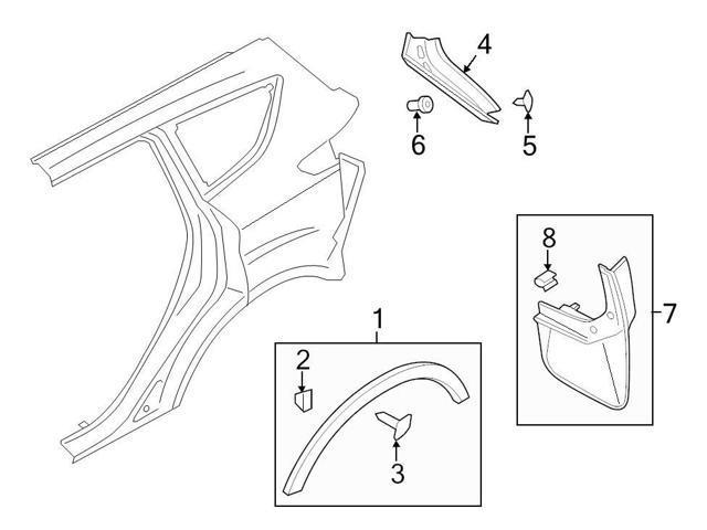 Ford Oem Mud Flap Clip W704733s424