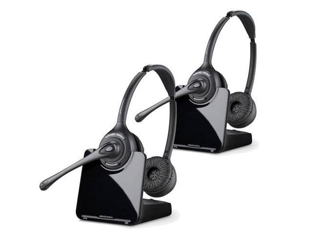Plantronics Cs520 Binaural Wireless Headset System 2 Pack