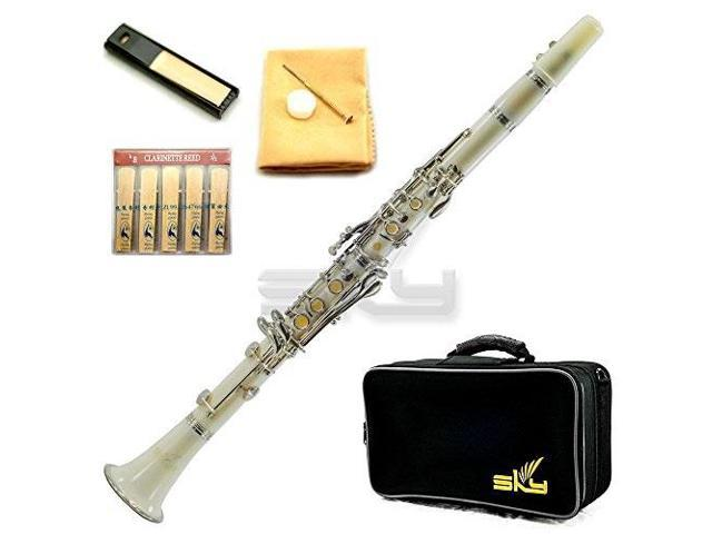 Hawk Pink Colored Bb Clarinet with Case Mouthpiece and Reed