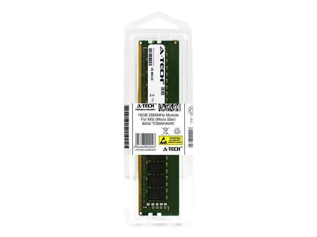A-Tech 16GB 2666MHz DDR4 RAM for MSI B450 TOMAHAWK Desktop Memory Upgrade -  Newegg com