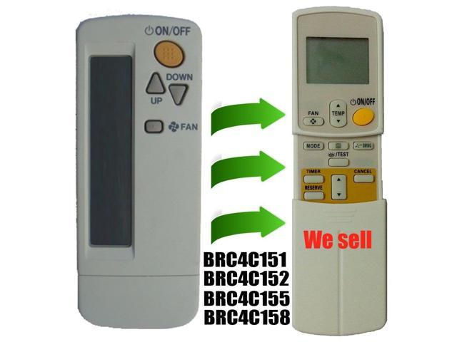 Replacement for DAIKIN Air Conditioner Remote Control BRC4C151 BRC4C152  BRC4C153 BRC4C155 BRC4C158 - Newegg com