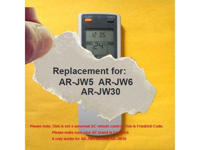 Replacement for FRIEDRICH Air Conditioner Remote Control Model Number:  AR-JW5 AR-JW6 AR-JW30 (Display in Celsius but it also can work for  Fahrenheit