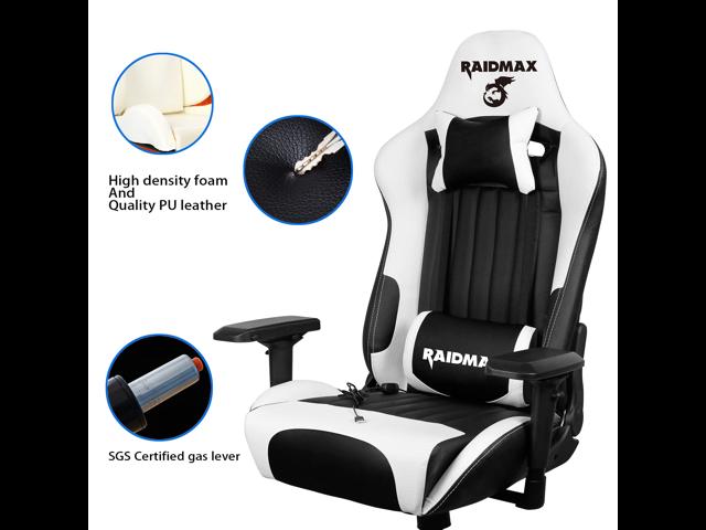 Headrest and Massage Lumber Support Drakon Gaming Chair Ergonomic Racing Style Pu Leather Bucket Seat Orange//Black 4D Adjustable Armrest