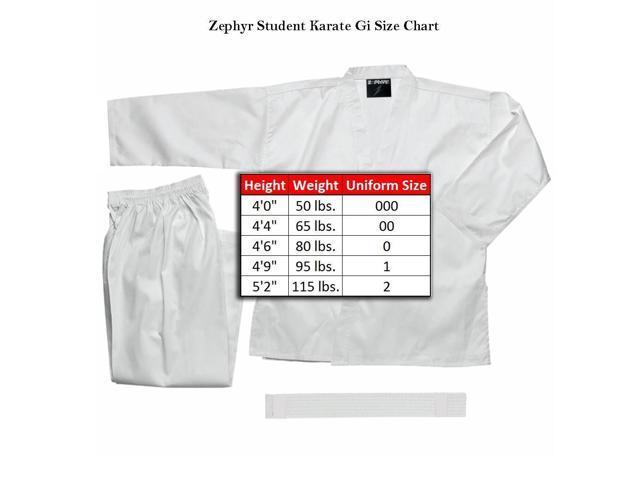 White Belt Zephyr Tactical Martial Arts Karate Gi Student Uniform