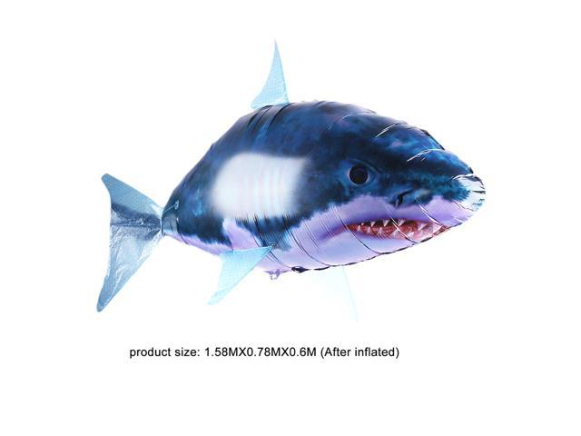 Control Toy Shark Rc Balloon Flying Inflatable Remote Blimp Air Swimmers Fish 4LAR3j5