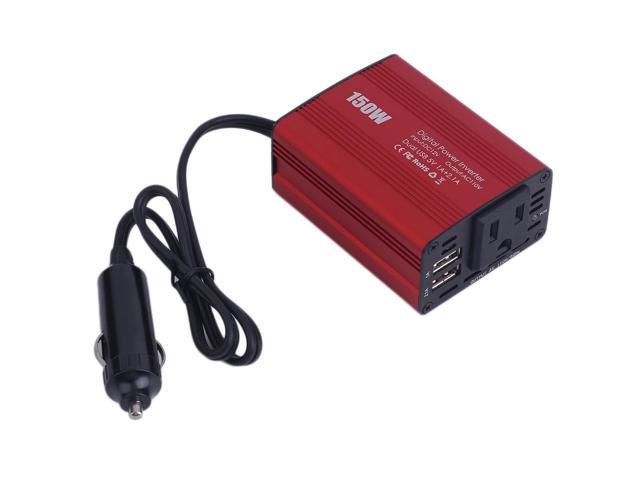 150W DC 12V To AC 110V Outlet Power Inverter Transformer 2 USB Car  Converter - Newegg com