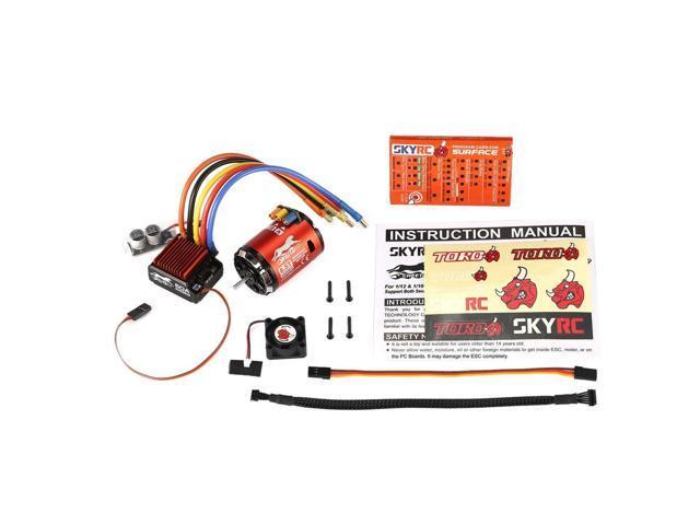 SKYRC 4000KV 8 5T Sensored Brushless Motor 60A ESC Program Card for 1/10  Car - Newegg com