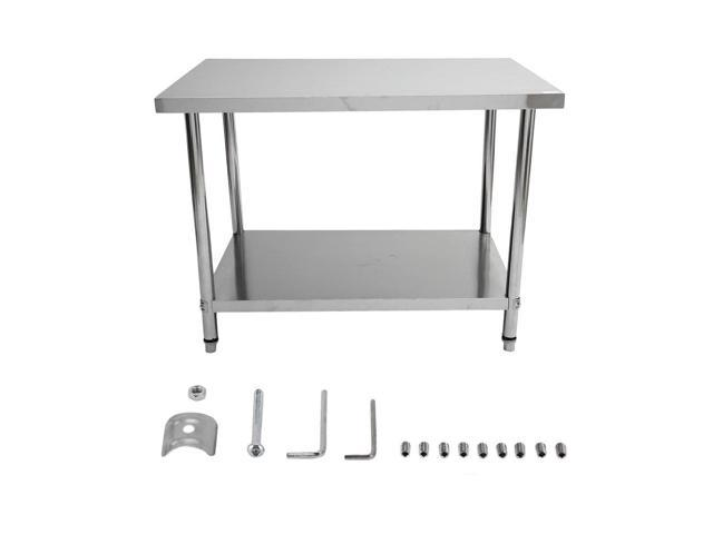 Admirable Stainless Steel Commercial Catering Table 120X76X90Cm Kitchen Work Bench Newegg Com Gmtry Best Dining Table And Chair Ideas Images Gmtryco