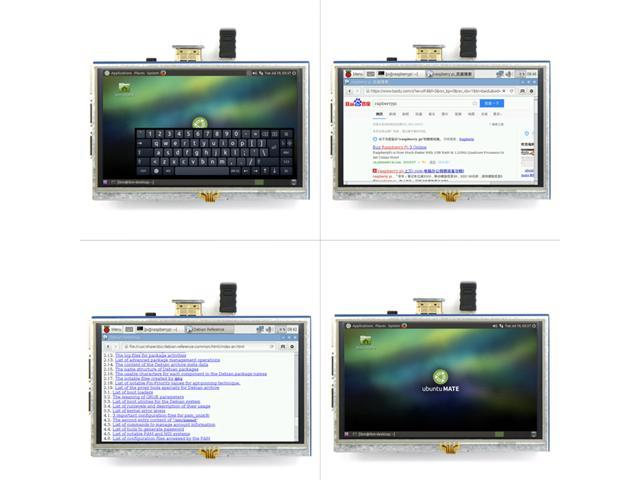 5-inch Resistive Touch Screen LCD Display HDMI for Raspberry Pi XPT2046 FF  - Newegg ca