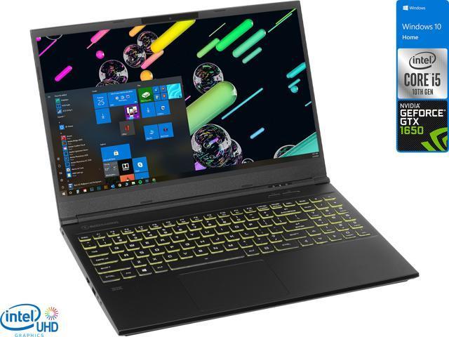 "EVOO Gaming Laptop, 15.6"" FHD Display, Intel Core i5-10300H Upto 4.5GHz, 8GB RAM, 256GB NVMe SSD, NVIDIA GeForce GTX 1650, HDMI, Mini DisplayPort, Wi-Fi, Bluetooth, Windows 10 Home (EG-LP10-BK)"