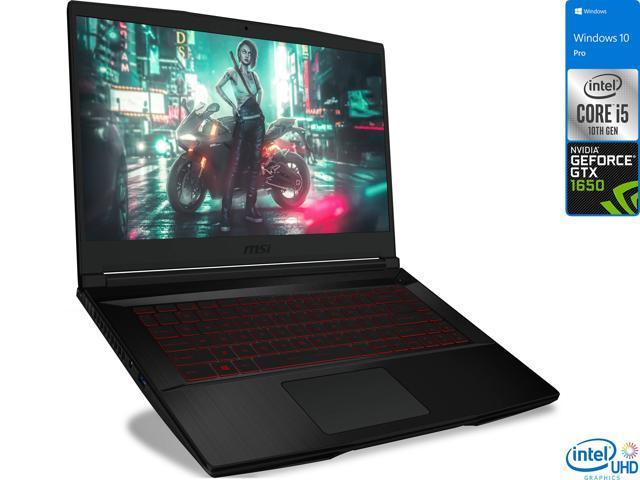 "MSI GF63 Gaming Laptop, 15.6"" FHD Display, Intel Core i5-10300H Upto 4.5GHz, 16GB RAM, 512GB NVMe SSD, NVIDIA GeForce GTX 1650, HDMI, Wi-Fi, Bluetooth, Windows 10 Pro"