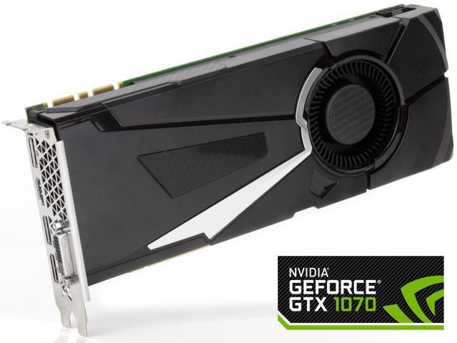 Used - Like New: NVIDIA GeForce GTX1070 8GB GDDR5 Graphics Cards, PCI  Express 3 0, DirectX 12, OpenGL 4 5, 1683 MHz OEM - Newegg com