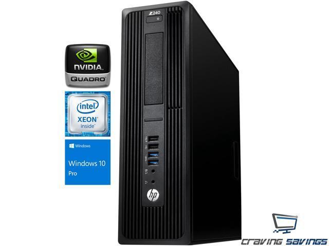 HP Z240 SFF Workstation, Intel Xeon Quad-Core E3-1230 v5 Upto 3 8GHz, 8GB  DDR4, 256GB SSD + 1TB HDD, NVIDIA Quadro K420 2GB, DVD-RW, Wifi, BT, Dual
