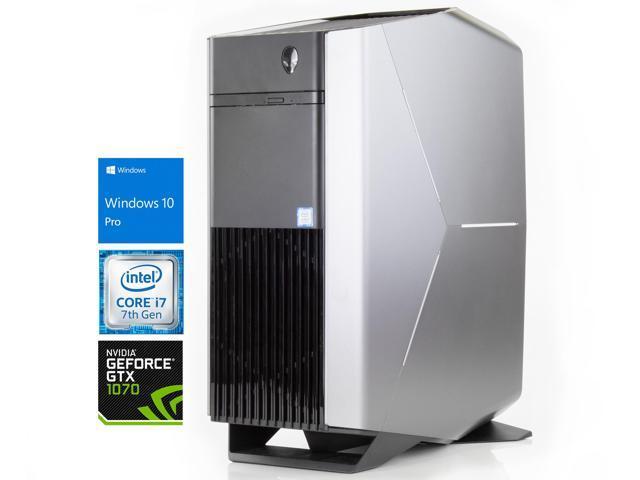 Alienware Aurora R6 Gaming Desktop, Intel Quad-Core i7-7700 Upto 4 2GHz,  8GB RAM, 512GB SSD, NVIDIA GeForce GTX 1070 8GB, DVD-RW, HDMI, DisplayPort,