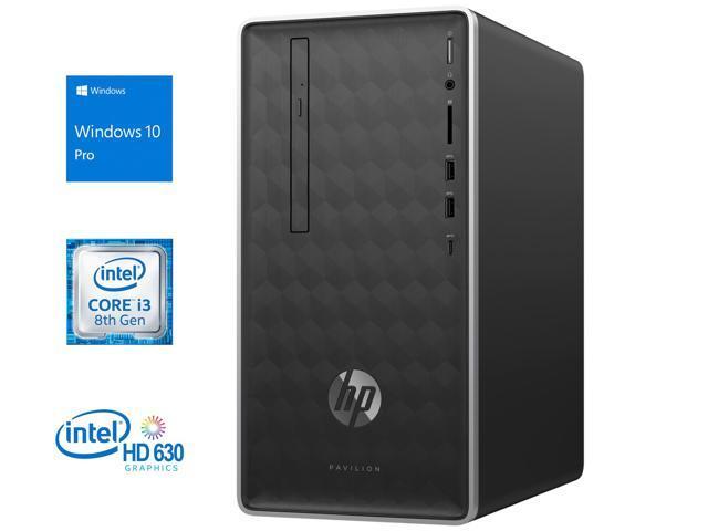 HP Pavilion 590 Desktop, Intel Quad-Core i3-8100 3 6GHz, 8GB RAM, 512GB  SSD, DVD-RW, HDMI, VGA, Card Reader, LAN, Wi-Fi, Bluetooth, Windows 10 Pro  -