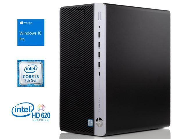 HP ProDesk 600 G3 Desktop, Intel Dual-Core i3-7100 3 9GHz, 32GB RAM, 128GB  NVMe SSD + 1TB HDD, DVD-RW, DisplayPort, VGA, Wi-Fi, Bluetooth, Windows 10