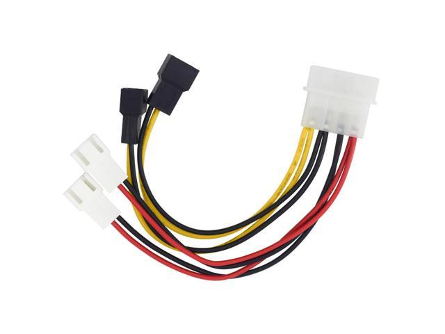 Copper Molex 4 Way 3Pin//4Pin Computer Power Fan Splitter Adapter Cable  LD