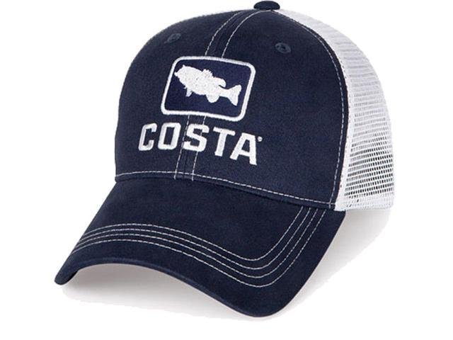 3a6daf249ef Costa Del Mar Bass Trucker Ball Cap, Navy/White - HA 18N - Newegg.com