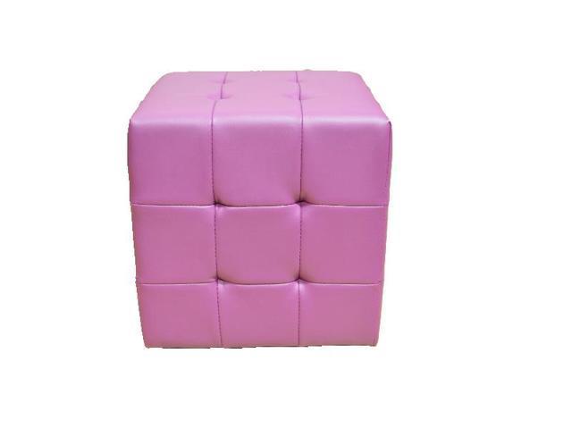 Phenomenal Greatime Om1002Pp Tufted Cube Ottoman Leather Like Vinyl Purple Color Creativecarmelina Interior Chair Design Creativecarmelinacom