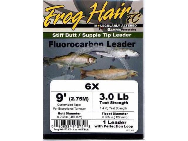 Frog Hair 9ft 1X Fluorocarbon Tapered Leader - Fly Fishing - Newegg com