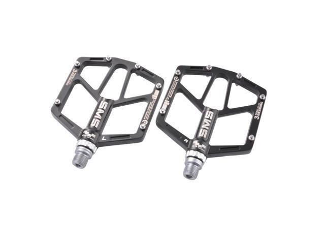 "2X Road Mountain Bike Platform Pedals Flat Sealed Bearing Bicycle Pedals 9//16"""
