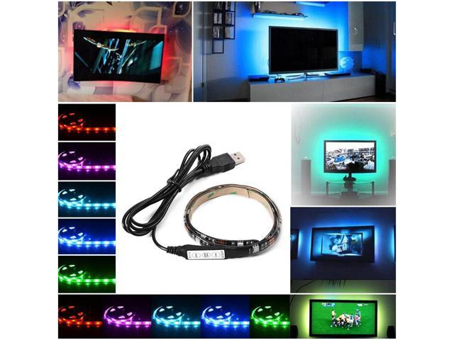 XCSOURCE® Multi-color RGB 50cm 5050 SMD LED Strip Light TV Computer  Background Waterproof Lighting Kit with USB Cable LD794 - Newegg com