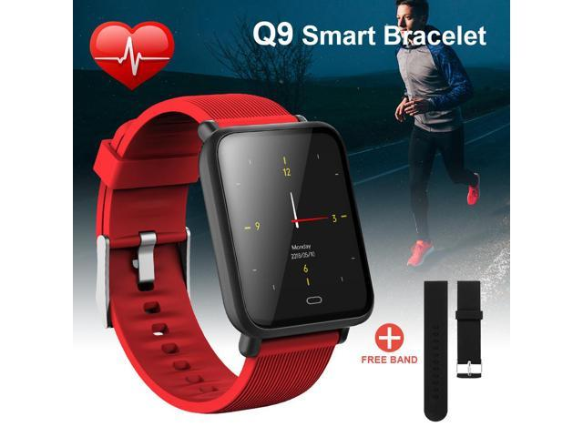 XCSOURCE Q9 Bluetooth Smartwatch Fitness Tracker Sports Bracelet IP67  Waterproof Heart Rate Blood Pressure Monitor Pedometer SMS Call  Notification