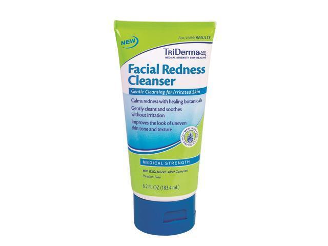 TriDerma Facial Redness Cleanse & Repair Kit Genuine Virgin Aloe Tri Derma  Pore Reducing Anti-Age Serum, 1 oz
