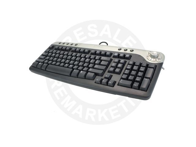 Dell PS2 Multimedia Black Silver Keyboard 2R400 w//USB Adapter 321711-002