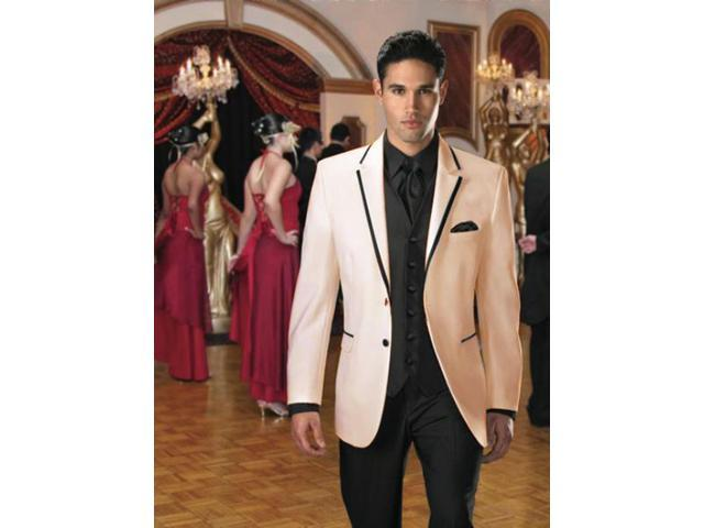 Two Button Stage Party Tuxedo Or Formal Suit Blazer With Black