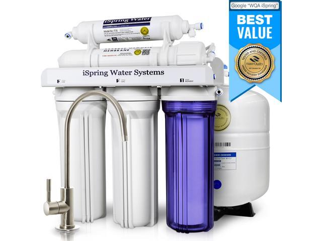 ispring reverse osmosis drinking water filter system - 75 gpd wqa ...