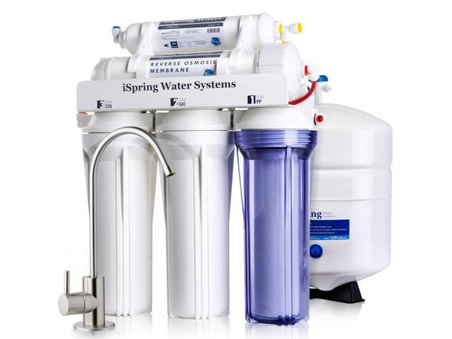 iSpring 5-Stage Prestige Top Purity Under Sink Reverse Osmosis Drinking  Water Filter System WQA Gold Seal Certified (NSF/ANSI 58) - RCC7 - Newegg ca