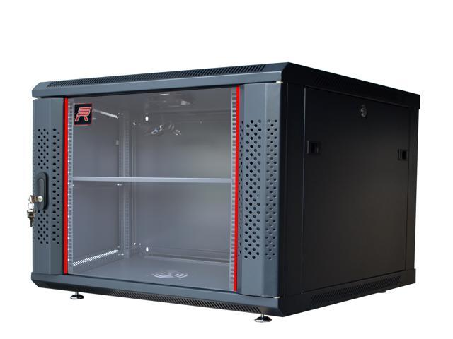 6u Wall Mount It Network Cabinet Enclosure Server Rack Fully Loaded 24 Deep Lockable