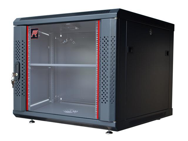 9U Server Rack Cabinet Enclosure. Fully Equipped. ACCESSORIES FREE! Vented Shelf Cooling  sc 1 st  Newegg.com & 9U Server Rack Cabinet Enclosure. Fully Equipped. ACCESSORIES FREE ...