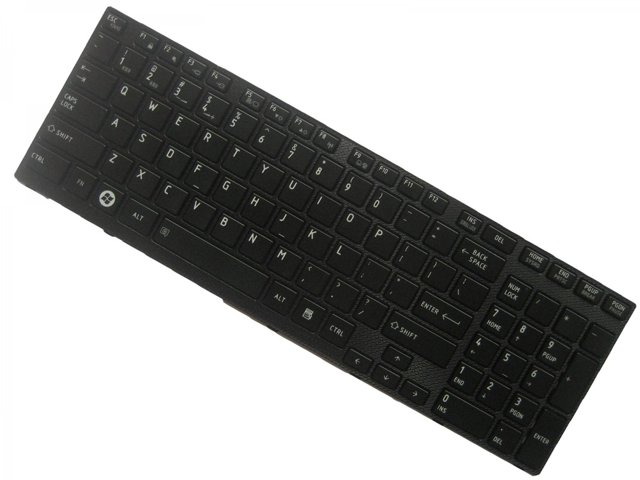 OEM Laptop US Keyboard with Frame For Toshiba Satellite P755