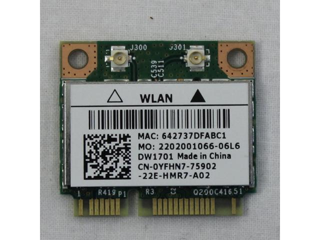 Genuine Dell Inspiron 15R N5110 Laptop Wifi Wireless Card 0YFHN7 YFHN7 -  Newegg com