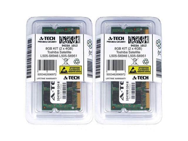 8GB KIT 2 x 4GB Toshiba Satellite L505-S6946 L505-S6951 L505