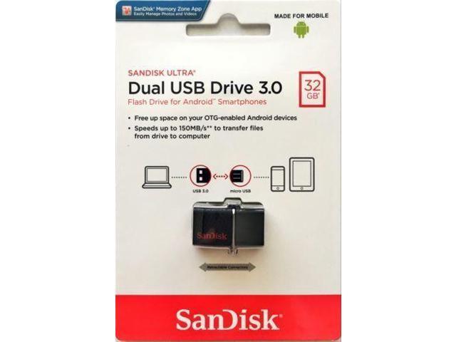 SanDisk 32GB OTG Ultra Dual microUSB 32G USB 3 0 Pen Drive SDDD2-032G -  Newegg com
