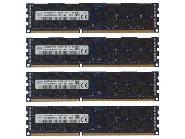 64GB Kit 4x 16GB HP Proliant DL360P DL380E DL380P DL385P DL560 G8 Memory Ram