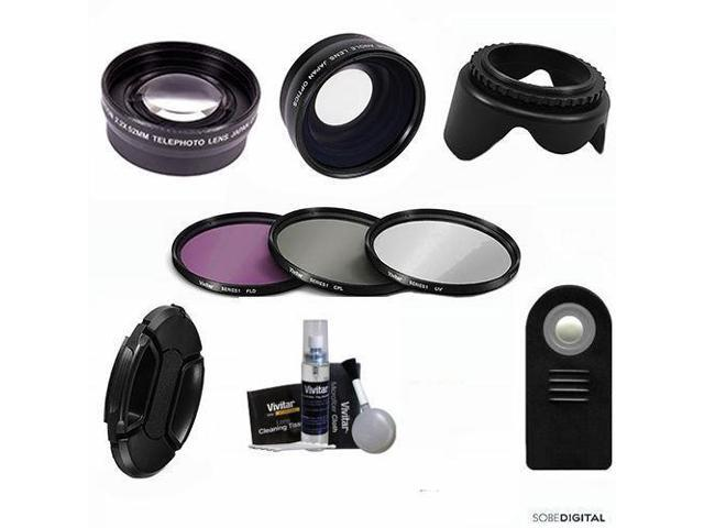 Wide Angle Lens Zoom Lens Remote Filters For Canon Eos Rebel T5 T5i T6 T4 Newegg Com