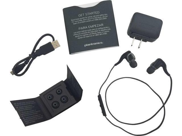 New Plantronics Backbeat Go 2 Stereo Wireless Bluetooth Headphones Headset Black Newegg Com