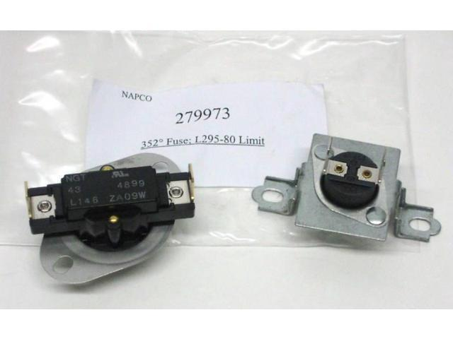 Dryer Thermostat Thermal Fuse Kit 279973 for Whirlpool 3391914 - Newegg com