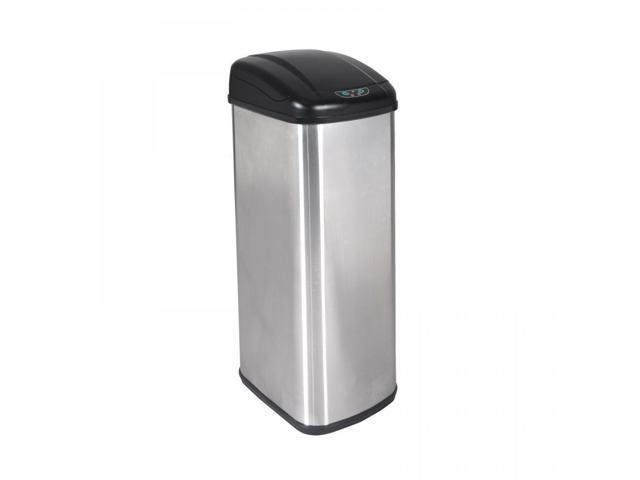 New 13 Gallon Touch-Free Sensor Automatic Stainless-Steel Trash Can Kitchen  13G - Newegg.com