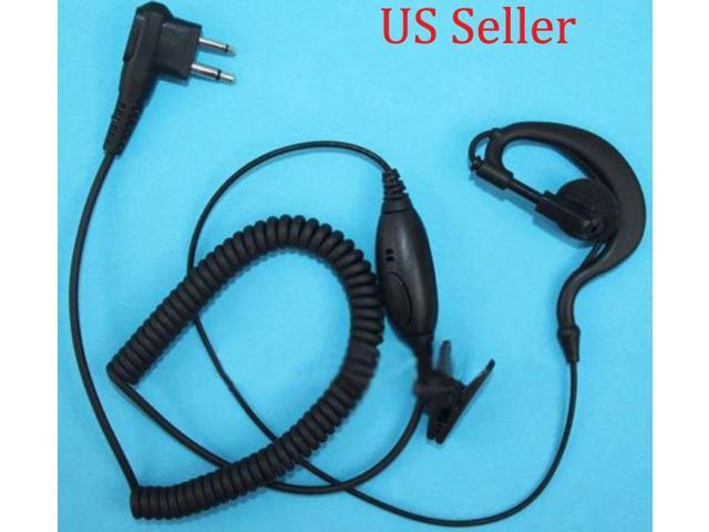 D Earpiece Headset Mic For Motorola Radio CLS1110 CLS1410 CLS1413 CP100 CP200 US
