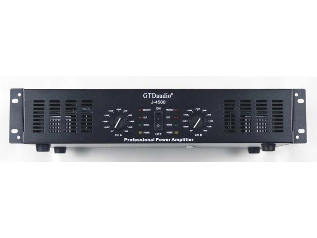 gtd audio 2 channel 4500 watts professional power amplifier amp stereo j4500 newegg com  gtd audio 2x250 watts professional
