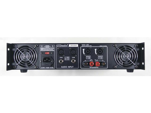 gtd audio 2 channel 4500 watts professional power amplifier amp stereo j4500 newegg com  power amplifier amp