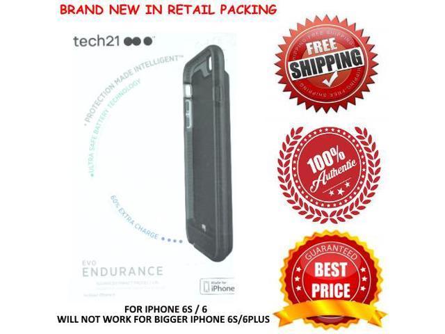 new product 397ed 4e9f3 Tech21 Evo Endurance 1800mAh External Battery Case for Apple iPhone 6S 6  Black - Newegg.com