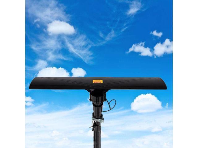 150Mile Outdoor TV Antenna Motorized Amplified HDTV 1080P 4K 22dB 360°Rotation